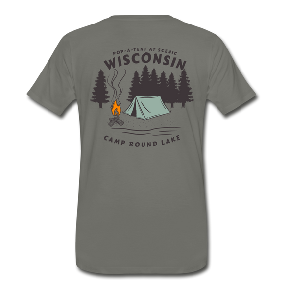 Camp Round Lake Wisconsin Premium T-Shirt - asphalt gray