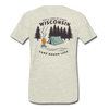 Camp Round Lake Wisconsin Premium T-Shirt - heather oatmeal