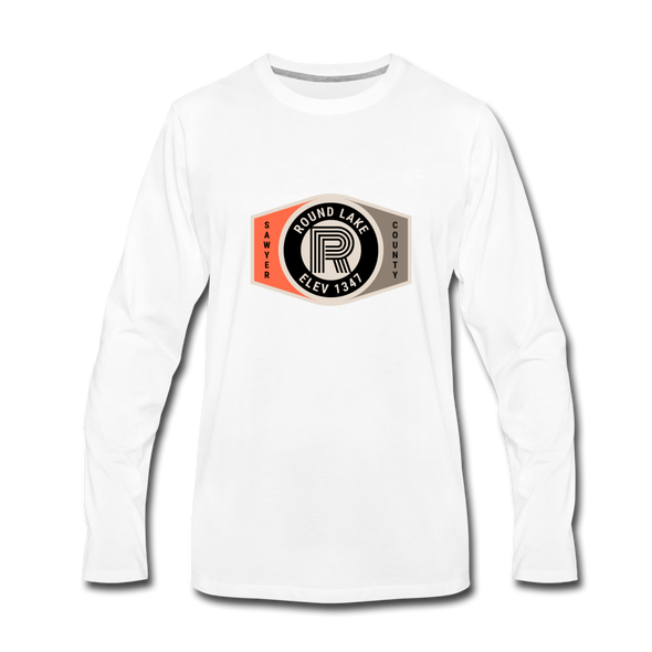 Round Lake Elevation 1347 Premium Long Sleeve T-Shirt - white