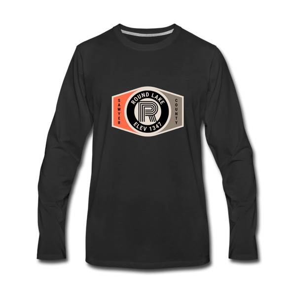 Round Lake Elevation 1347 Premium Long Sleeve T-Shirt - black