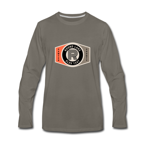 Round Lake Elevation 1347 Premium Long Sleeve T-Shirt - asphalt gray