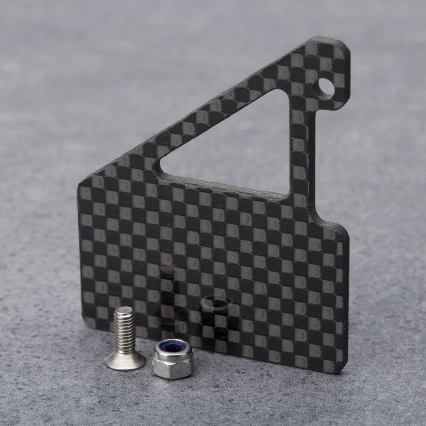 Schumacher CAT L1 ESC mount, including CNC machined carbon plate and stainless steel screws