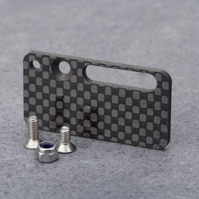 Schumacher CAT L1 receiver mount, including CNC machined carbon plate and stainless steel screws