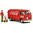 1963 Volkswagen Type 2 (T1) Cargo Van with Delivery Driver Figurine, Handcart and 2 Bottle Cases