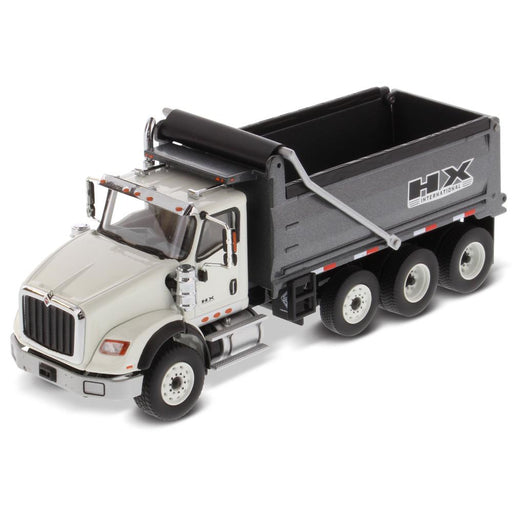 1:50 International HX620 Dump Truck  - Cab: White / Dump body: Gun metal