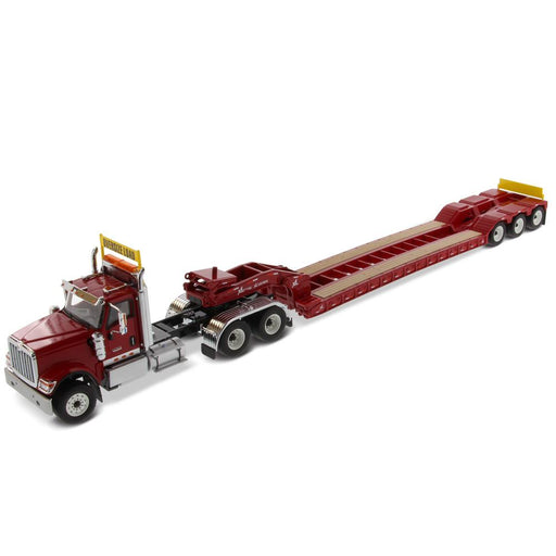 1:50 International HX520 Tandem Tractor with XL 120 Trailer. Including both rear boosters  - Red