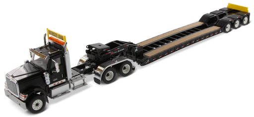 1:50 International HX520 Tandem Tractor with XL 120 Trailer. Including both rear boosters  - Black