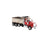 1:50 Western Star 4900 SF Dump Truck - Red cab + Matte Silver Plated Dump Body