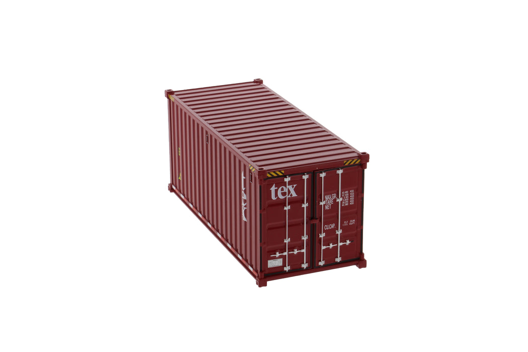 1:50 20' Dry goods sea container  - TEX color (no forwarder printed)