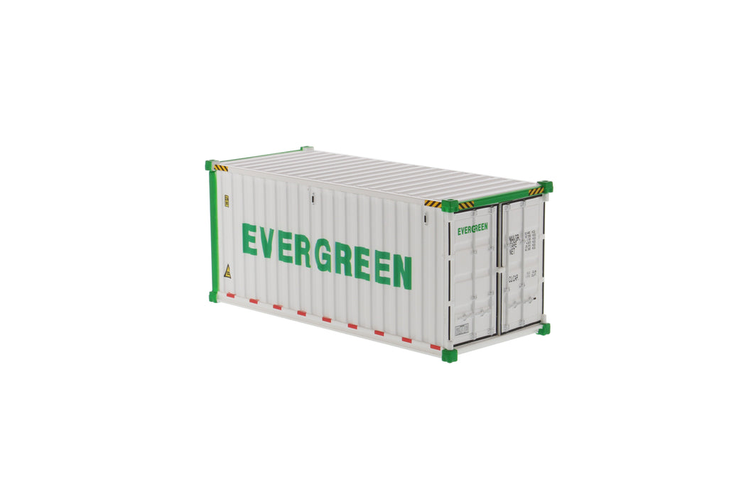 1:50 20' Refrigerated sea container  - EverGreen (refrigerated in white)