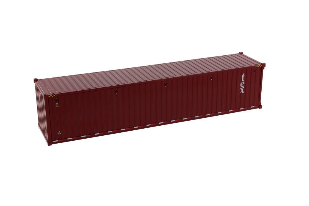 1:50 40' Dry sea container  - TEX color (no forwarder printed)