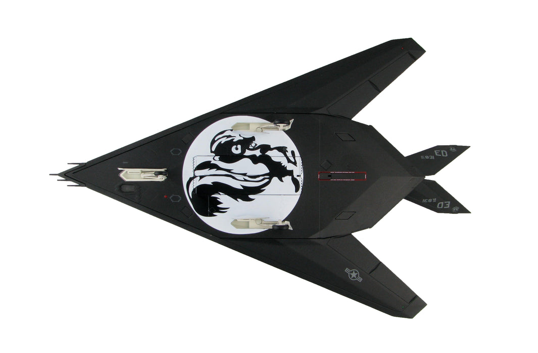 Lockheed F-117A Nighthawk 85-831 (with Skunkworks artwork on the underside)