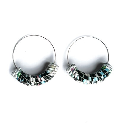 Vmag Hoops Black, White and Aqua