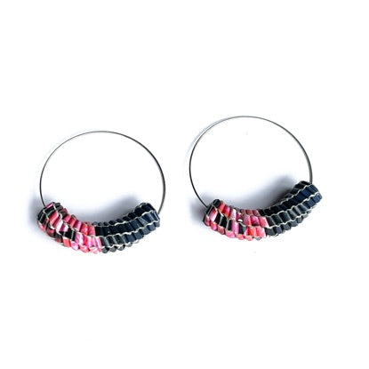 Vmag Hoops Dark Blue and Pink