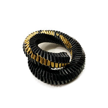 Load image into Gallery viewer, Solido Bracelet in Black and Gold Leaf