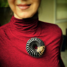 Load image into Gallery viewer, Nel Necklace and Brooch in Gold Leaf