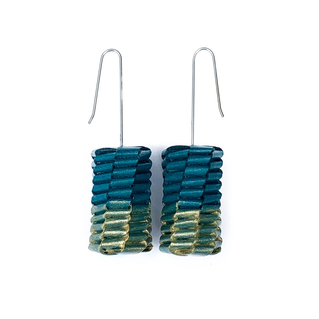 Long Gold Paint Ceresa Earrings