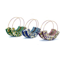 Load image into Gallery viewer, Rossi Hoops Blue