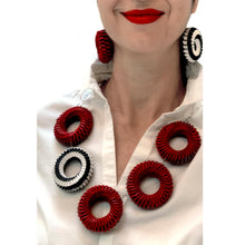Load image into Gallery viewer, Red Five Circles Necklace