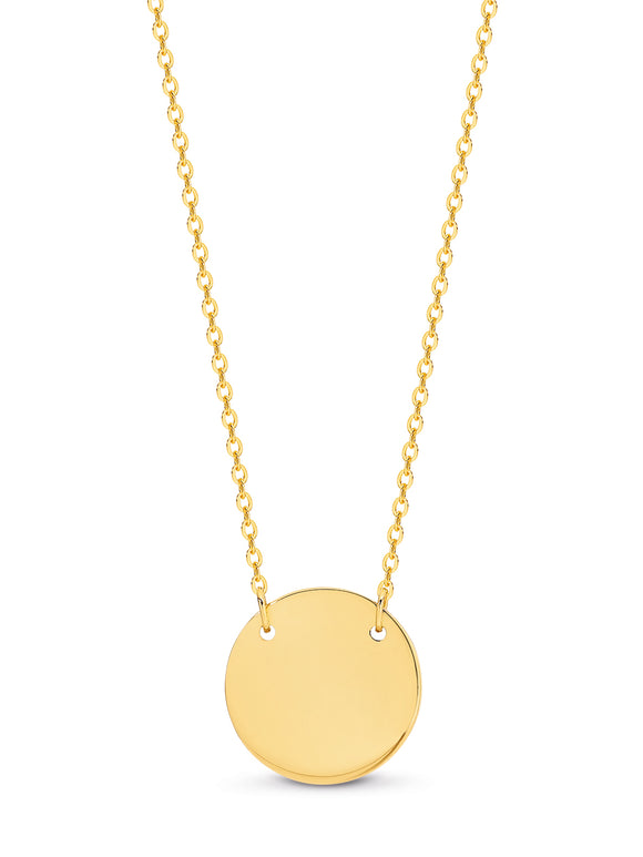 Disk Pendant Necklace