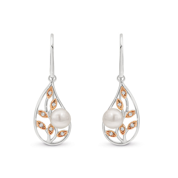 Freshwater Pearl Filigree Earrings