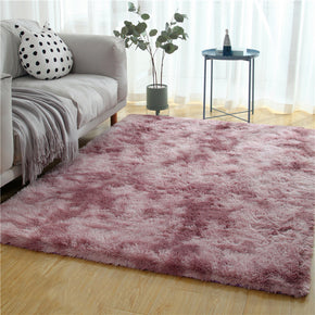 Gradient Purple Colour Modern Plain Carpet Bedroom Living Room Sofa Rugs Soft Plush Shaggy Rugs