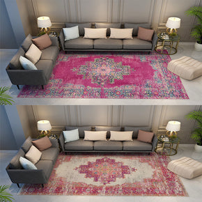 Pink Red Traditional Patterned Area Vintage Rugs for the Living Room Bedroom