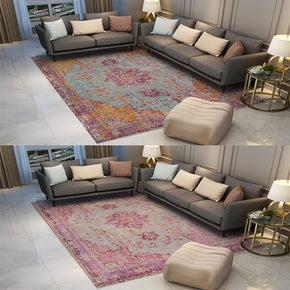 Floral Patterned Retro Traditional Carpet for the Living Room Hall