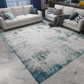 Modern Blue Plain Area Rug Abstract Carpet for Living Room Bedroom Office Hall