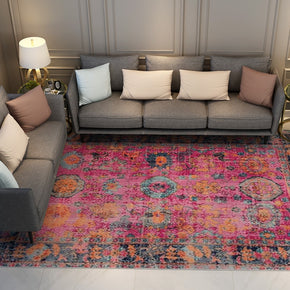 Pink Beautiful Shaggy Vintage Traditional Area Rugs Floormat for Living Room Hall Office
