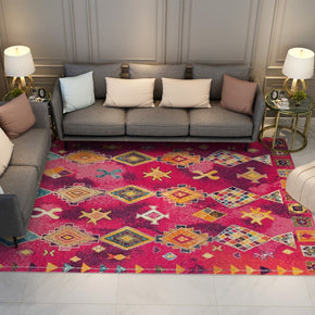 Pink Traditional Shaggy Patterned Moroccan Area Rugs for the Hall Living Room and Bedroom