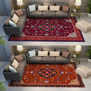 Printed  Fine  Gorgeous Floral Traditional Shaggy Vintage Rugs for Living Room Dining Room Bedroom Hall