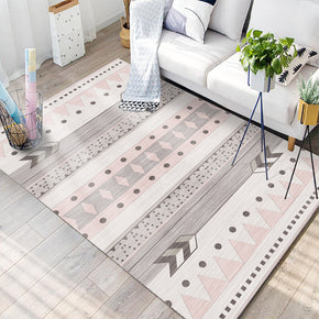 Pink Moroccan Style Modern Geometric Contemporary Rugs for Living Room Dining Room Bedroom