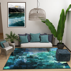 Green Ink Painting Pattern Modern Contemporary Simple Rugs for Living Room Dining Room Bedroom