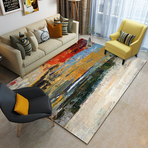 Colourful Ink Painting Abstract Pattern Modern Contemporary Simple Rugs for Living Room Dining Room Bedroom