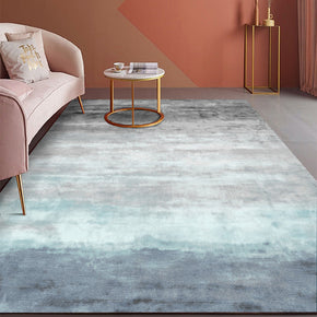 Abstract Gradient Blue Grey Pattern Modern Contemporary Simple Rugs for Living Room Dining Room Bedroom