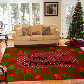 Christmas Cube Pattern Christmas Holiday Decoration Rug For Living Room Dining Room Bedroom Hall Floor Mats Rugs Christmas Tree