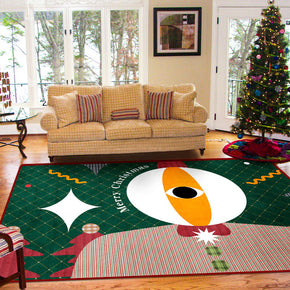 Big Eyed Pattern Christmas Holiday Decoration Rug For Living Room Dining Room Bedroom Hall Floor Mats Rugs Christmas Tree