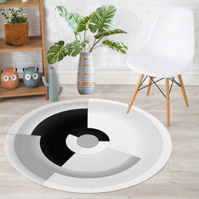 Round Geometric Simplicity Modern Polyester Carpets Patterned Area Rugs for Living Room Dining Room Kids room