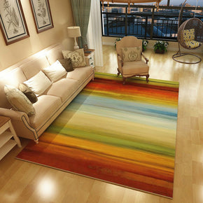 Coloured Lines Pattern Modern Simple Contemporary Geometric Rugs For Living Room Dining Room Bedroom
