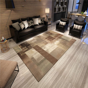 Gradient Brown Abstract Modern Simple Rugs Polyester Carpets Patterned for Bedroom Hall Living Room Dining Room