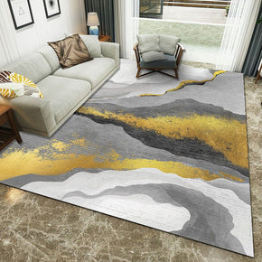 160*230cm Yellow Grey Rendering Pattern Modern Simple Contemporary Geometric Rugs