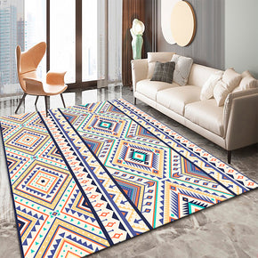 Purple Moroccan Geometric Traditional 3D Pattern Floor Mat Modern Rug for Bedroom Living Room Sofa Office Hall