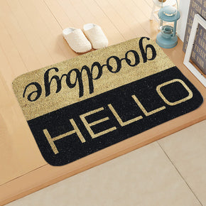 Welcome Home Pattern Modern Simplicity Entryway Doormat Rugs Kitchen Bathroom Anti-slip Mats 06