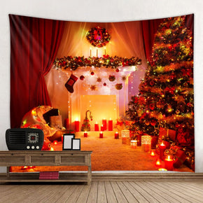 Candle Holiday Decor Wall Art Tapestry Rugs Boots Gift Christmas Tree Tapestries for Bedroom Living Dorm Room Room Hall