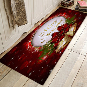 Christmas Crystal Ball Pattern Christmas Entryway Doormat Runners Rugs Kitchen Bathroom Anti-skip Mats