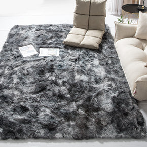 Gradient Dark Grey Colour Modern Plain Carpet Bedroom Living Room Sofa Rugs Soft Plush Shaggy Rugs