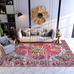 Traditional Vintage Pink Area Rug Carpet for Living Room Hall