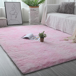 140*200cm Gradient Pink Colour Modern Plain Carpet Sofa Rugs