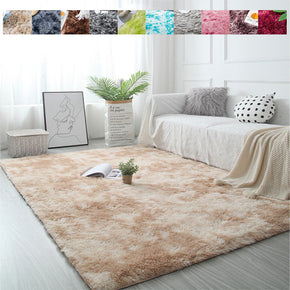 Collection: 9 Gradient Colours Modern Plain Carpet Bedroom Living Room Sofa Rugs Soft Plush Shaggy Rugs